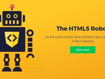 робот для тегов HTML5