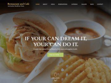 шаблон ресторана и кафе WP