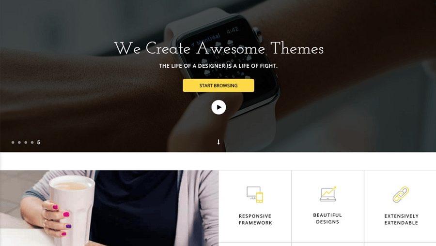 бизнес шаблона для WordPress
