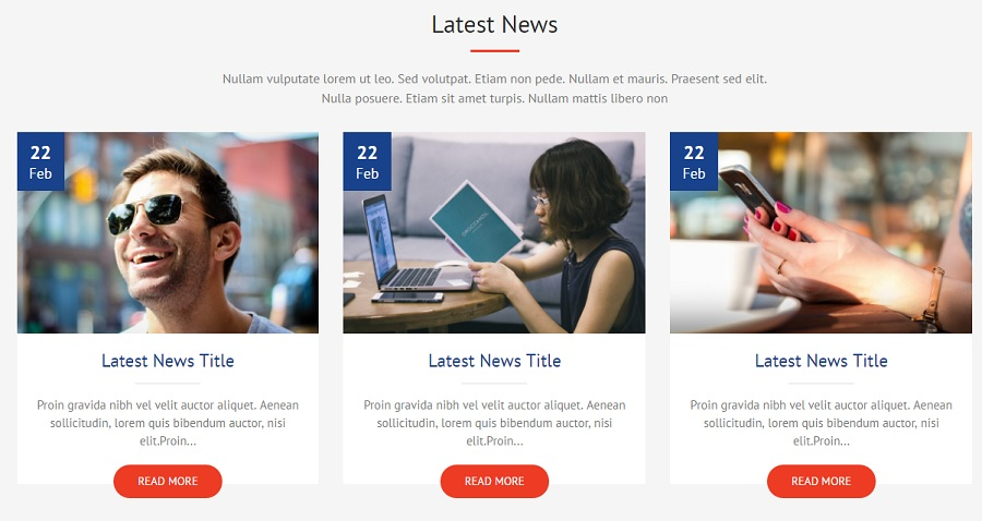 Блог шаблона WordPress