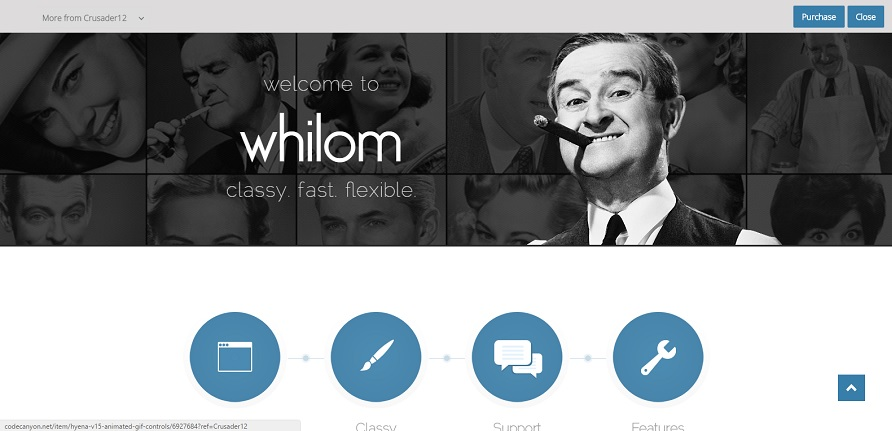 Шаблон HTML5 whilom