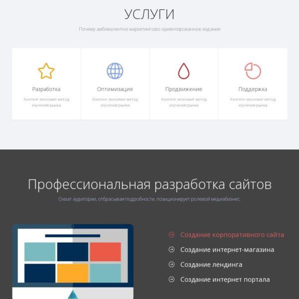 Timore | шаблон сайта лендинг пейдж HTML5 & CSS3