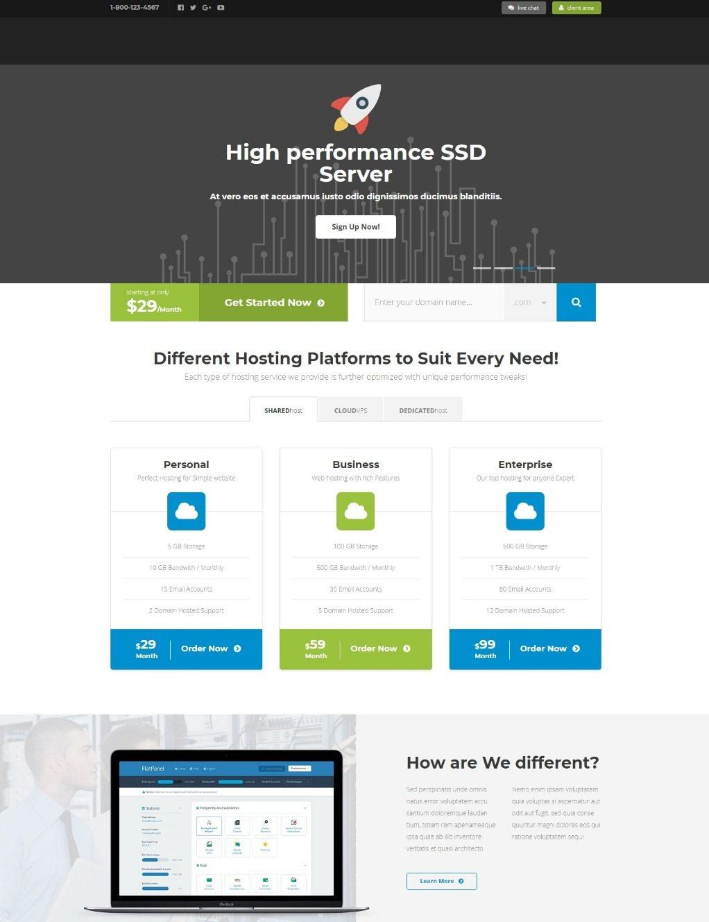Многофункциональный шаблон HTML5 с технологической тематикой
