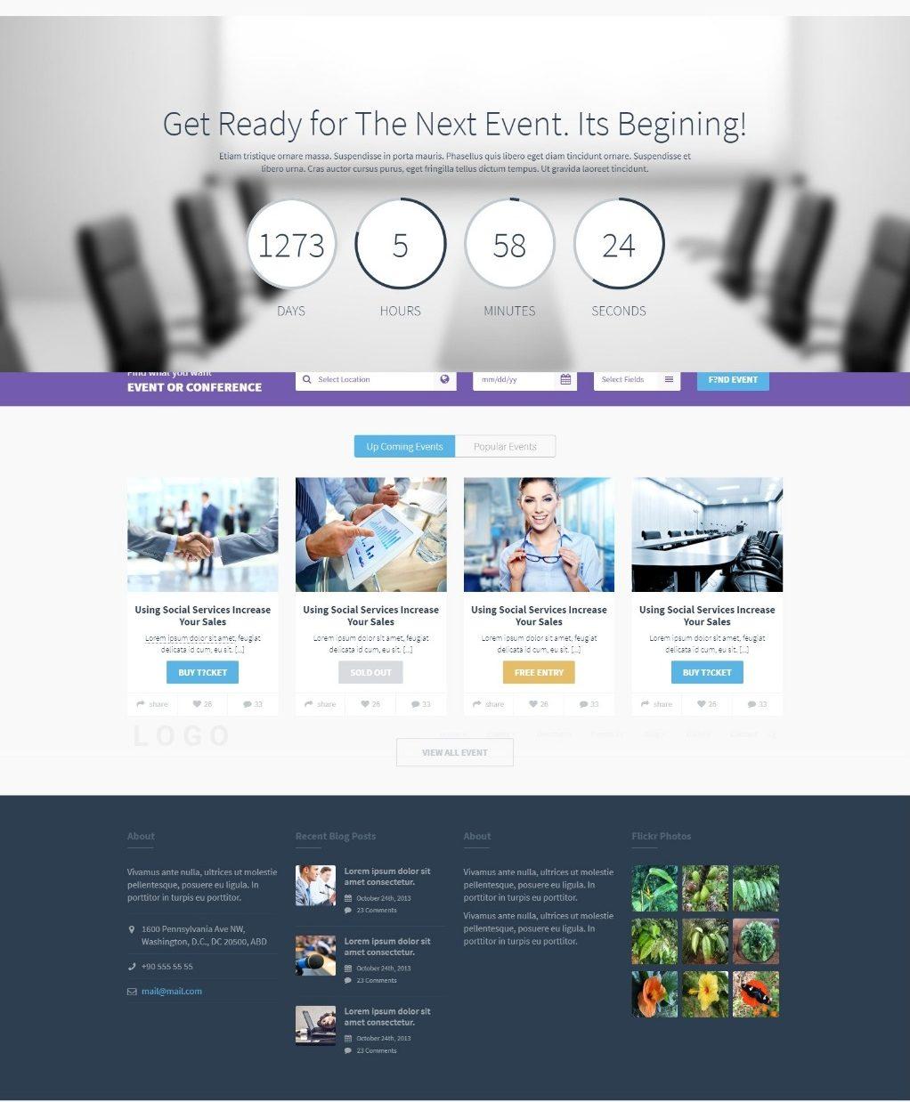 Шаблон HTML для event-сайта или портала