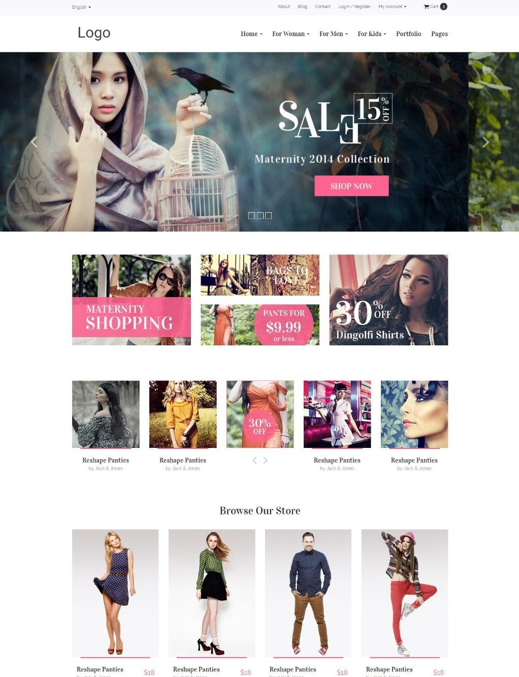HTML5 шаблон интернет-магазина мужской и женской одежды